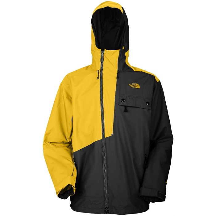 North face jacket black and yellow