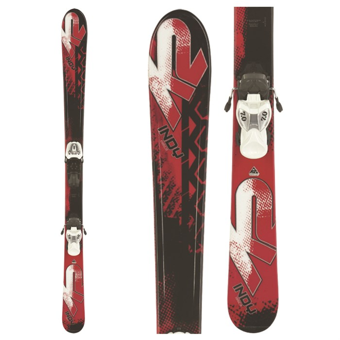 K2 Indy Skis + Marker FasTrak2 4.5 Bindings - Youth 2010