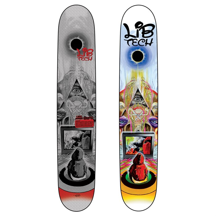 Medium image of lib tech   t  rice banana hammock tttr banana rocker snowboard 2011