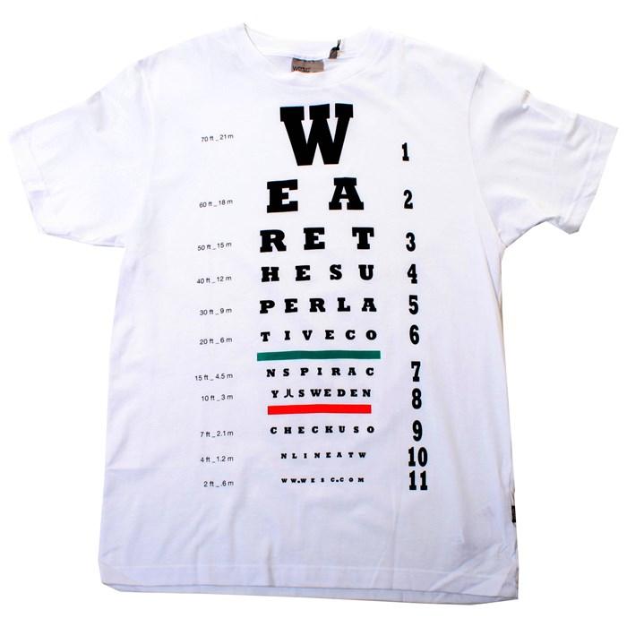 Wesc Eye Chart Tshirt Evo