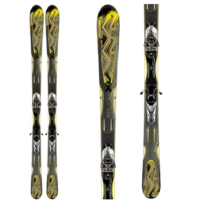 K2 - K2 A.M.P. Shockwave Skis + M2 11.0 TC Bindings 2011