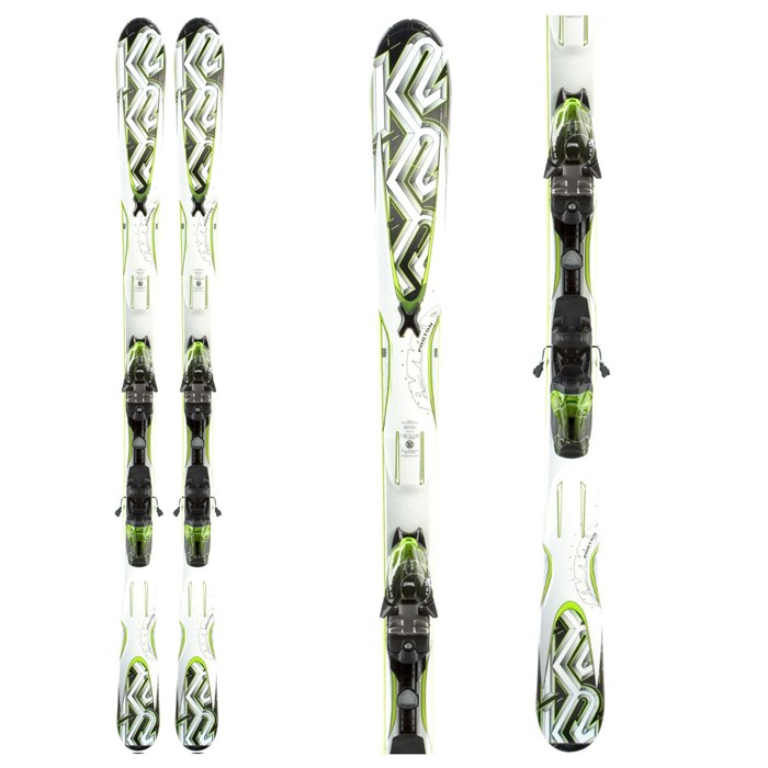 K2 - A.M.P. Photon Skis + M2 10.0 Q Bindings 2011