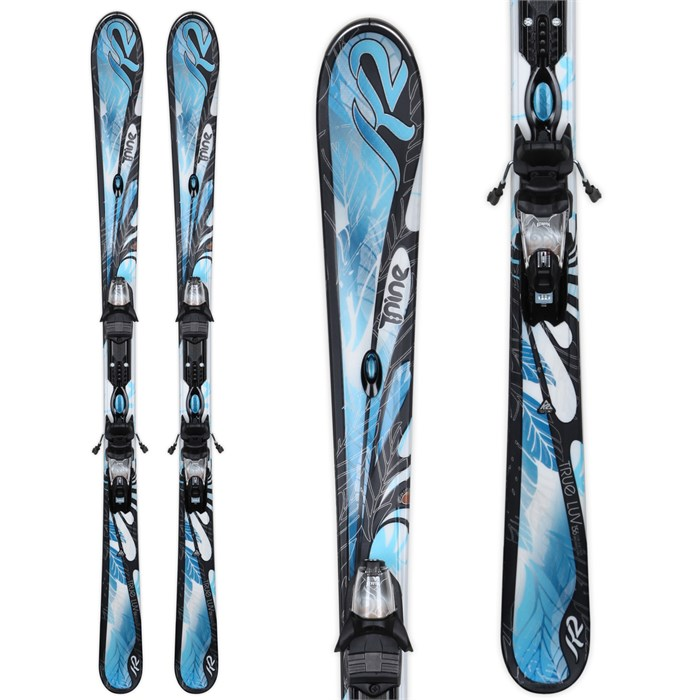 K2 - True Luv Skis + ERP 10.0 Q Bindings - Women's 2011