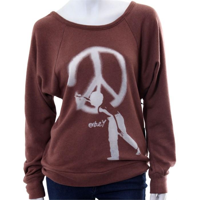 obey clothing vandal pullover sweatwshirt women 39 s evo outlet. Black Bedroom Furniture Sets. Home Design Ideas