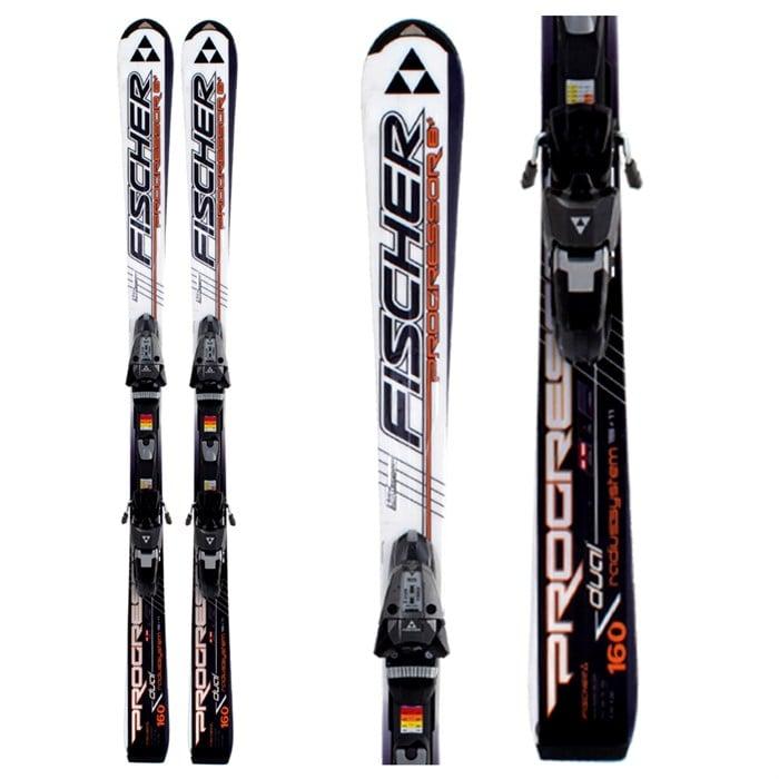 Fischer Progressor 8+ Skis + Bindings - Used 2009