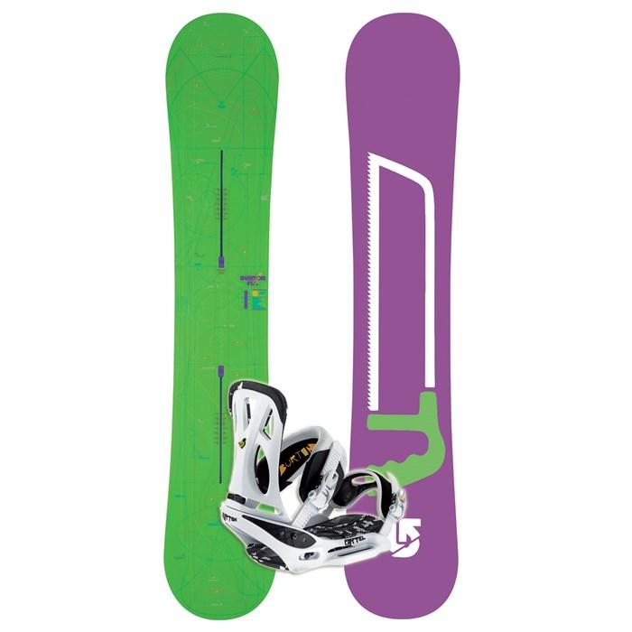 Burton Fix Channel Mid Wide Rocker Snowboard + Cartel EST