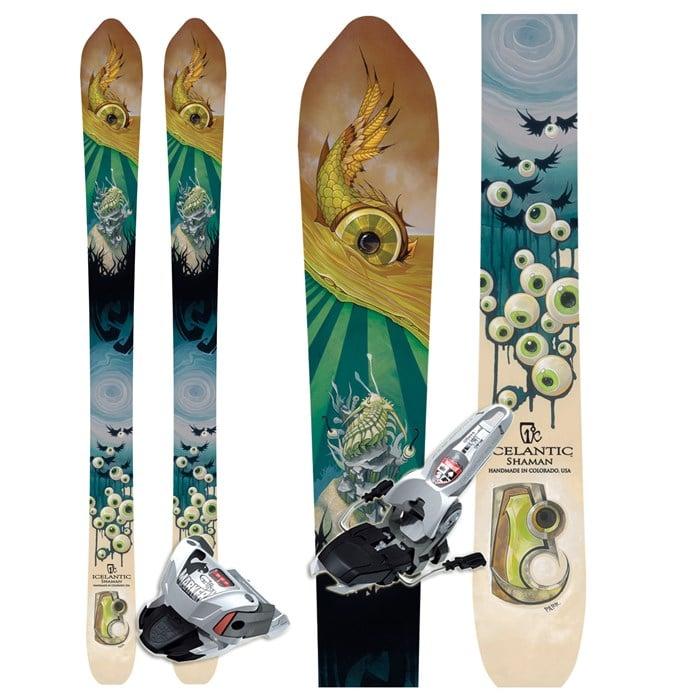 Icelantic Shaman Skis + Marker Griffon Bindings
