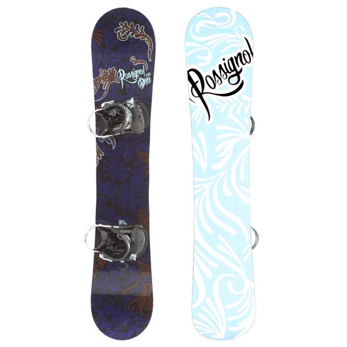 Rossignol Jones Snowboard Binding 2009: Rossignol Diva Mag Snowboard + Bindings