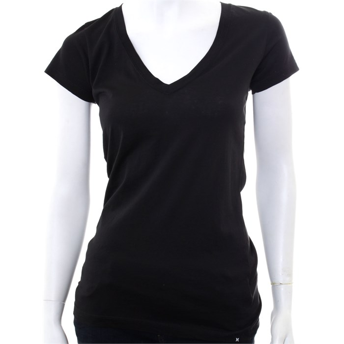 Hurley solid perfect v neck t shirt women 39 s evo outlet for Perfect black t shirt