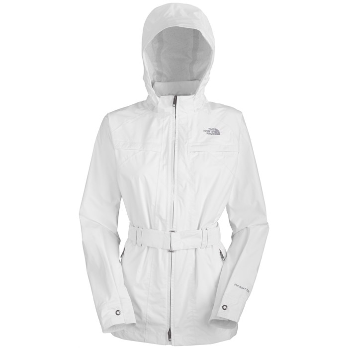 Womens White Rain Jacket - JacketIn