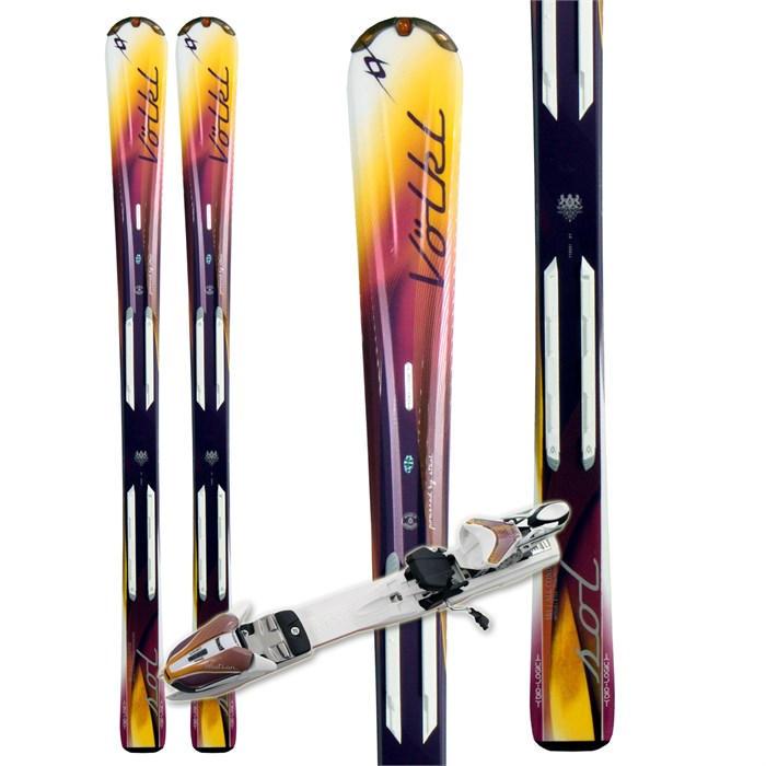 Volkl - Attiva Sol Skis + Attiva 3Motion 10.0 TC Bindings - Women's 2011