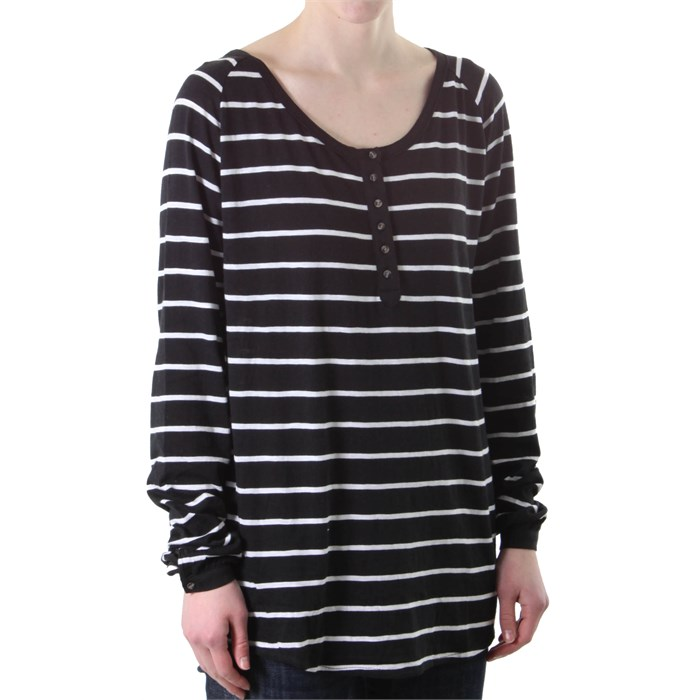Hurley - Firefly Henley Long Sleeve Top - Women's