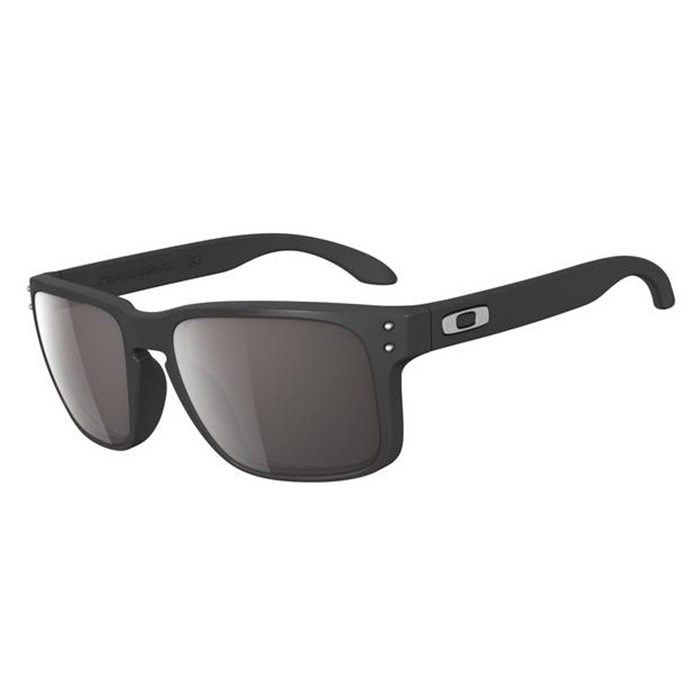 Oakley Holbrook Polarized Sunglasses Matte Black Warm Grey