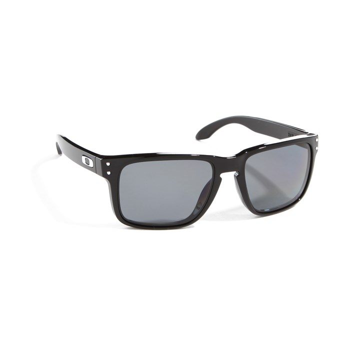 oakley sunglass polarized  oakley holbrook sunglasses polished black grey polarized