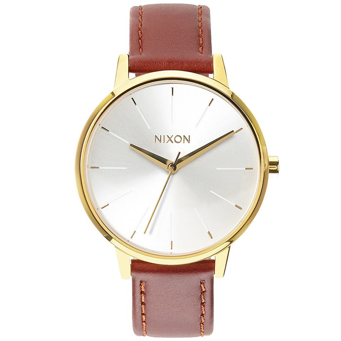 Nixon - The Kensington Leather Watch - Women's