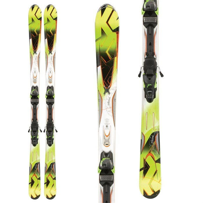 K2 - A.M.P. Rictor Skis + Marker MX 12.0 Bindings 2012