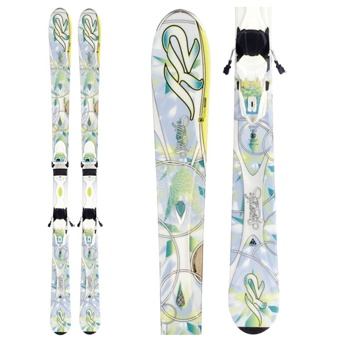 K2 - Superific Skis + Marker ER3 10.0 Bindings - Women's 2012