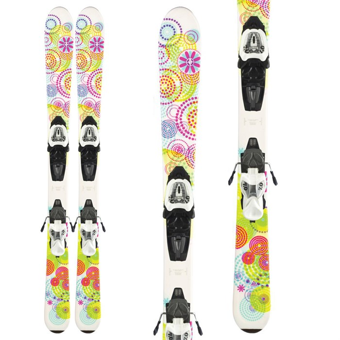 K2 - K2 Luv Bug Skis + FasTrack2 4.5 Bindings - Youth 2012