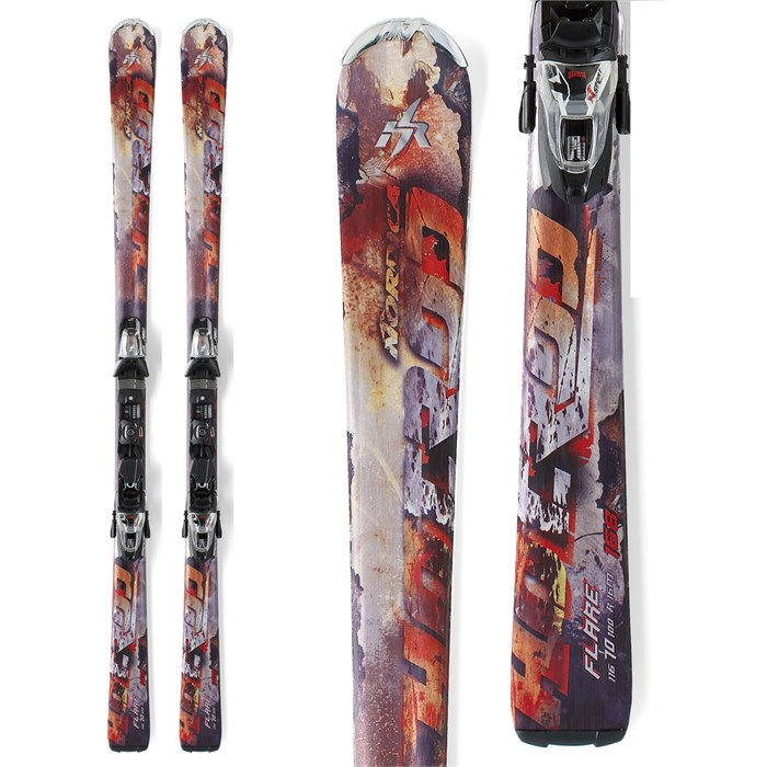 Nordica - Nordica Hot Rod Flare Skis + N Sport XCT Bindings 2012