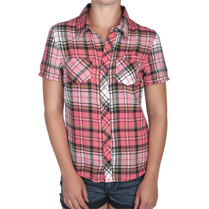 Volcom - Four Birds Short Sleeve Button Down Shirt - Women's