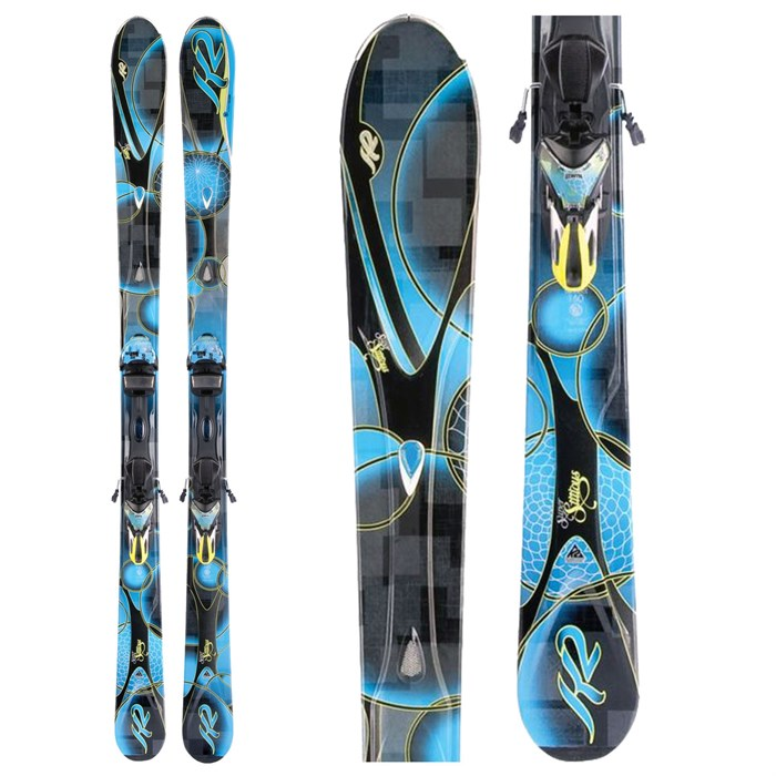 K2 - SuperStitious Skis + Marker ERS 11.0 TC Bindings - Women's  2012
