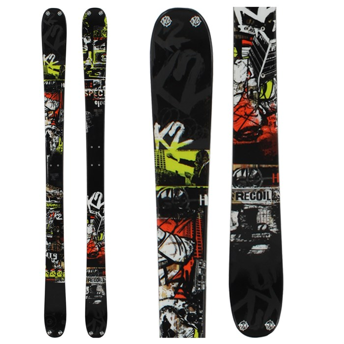 K2 - Recoil Skis + Squire Schizo Bindings 2012