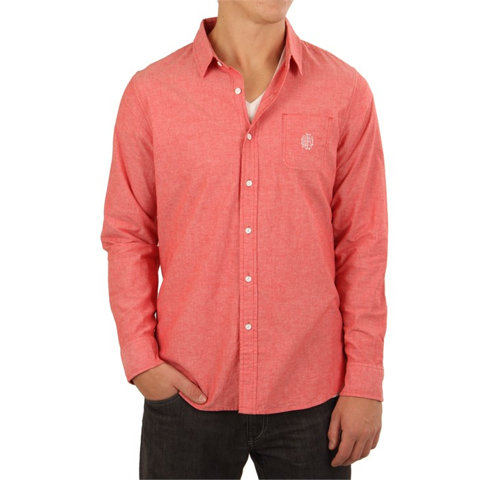 Obey clothing staple monogram long sleeve button down for Mens dress shirt monogram location