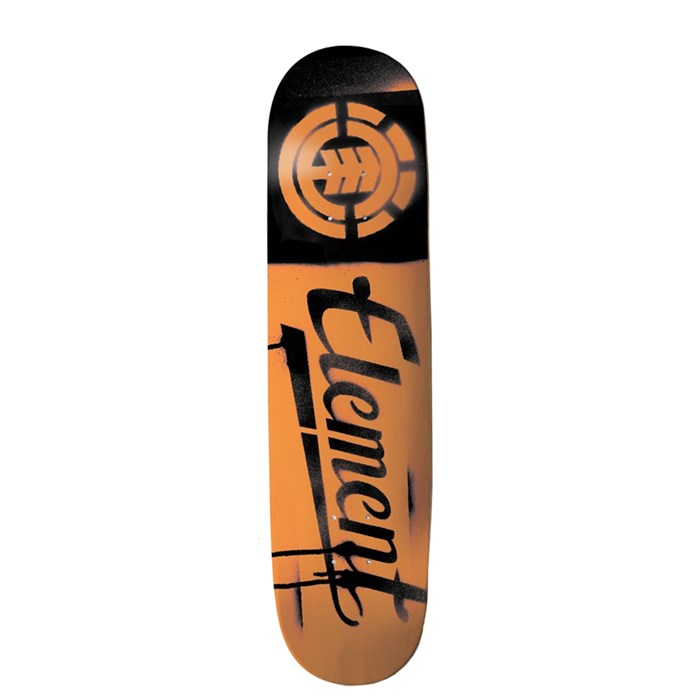 Element - Orange Script Skateboard Deck