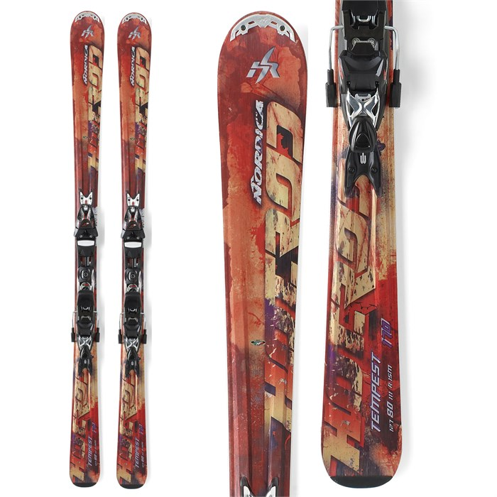 Nordica - Hot Rod Tempest Skis + XBI CT Bindings 2012