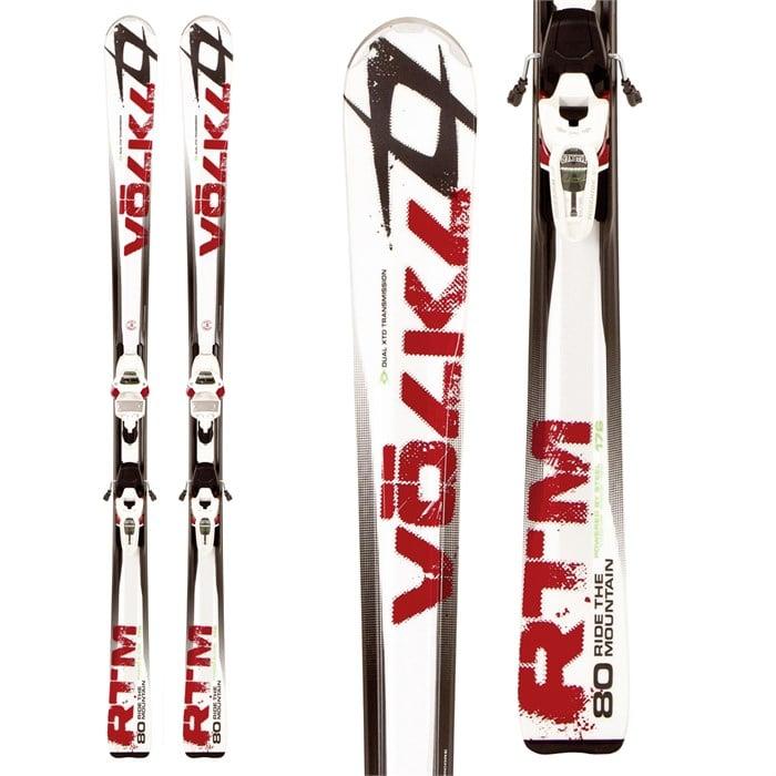 Volkl - RTM 80 Skis + iPT Wide Ride 12.0 Bindings 2012