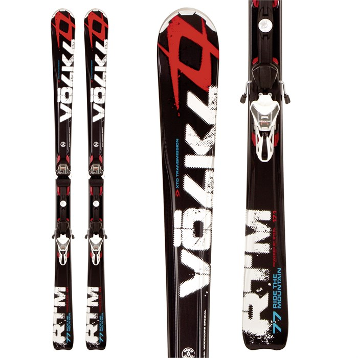 Volkl - RTM 77 Skis + 4Motion 11.0 TC Bindings 2012