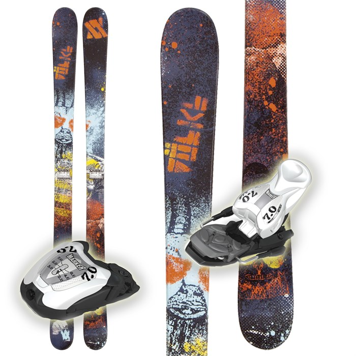 NEW / Volkl WALL JR 98cm Kids Skis W/Fastrak II Bindings