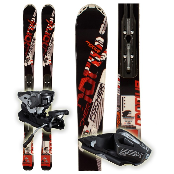 Fischer - Motive 88 Powerrail Skis + RSX 12 Powerrail Bindings 2012
