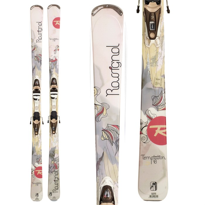 Rossignol - Temptation 78 Skis + WTPI²/Saphir 110 Bindings - Women's 2012