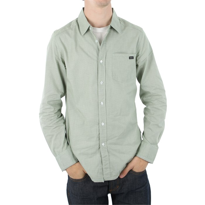 RVCA - Mini Blue Long Sleeve Button Down
