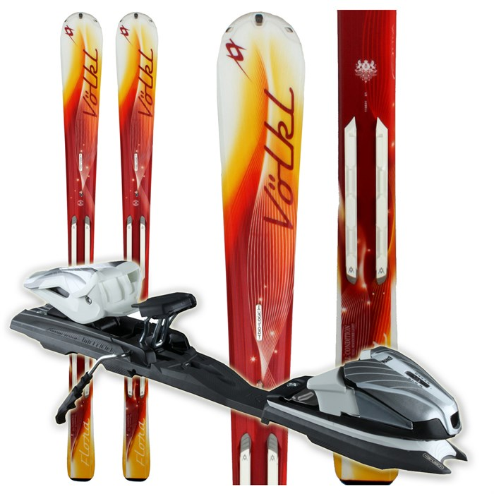Volkl - Attiva Flora Skis + Attiva 3Motion 10.0 Bindings - Women's 2011