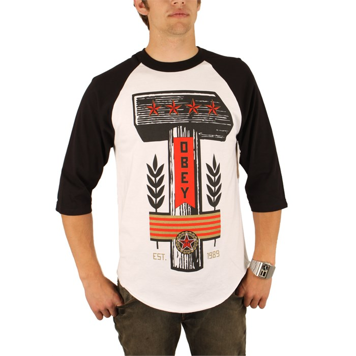Obey Clothing - Hammer Raglan Shirt