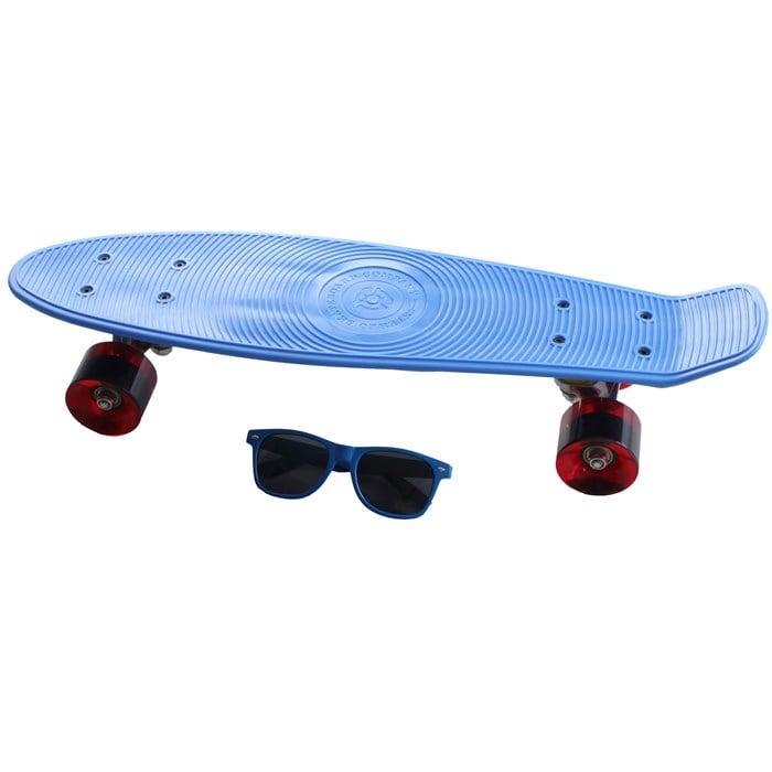 Stereo - Vinyl Cruiser Plastic Skateboard Complete W/ Sunglasses