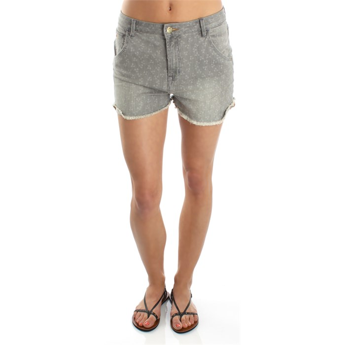 Quiksilver - Hannah's Vintage Grey Birds Shorts - Women's