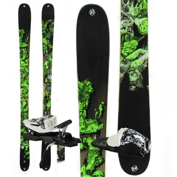 K2 - Sight Skis + 10.0 Free Bindings 2012