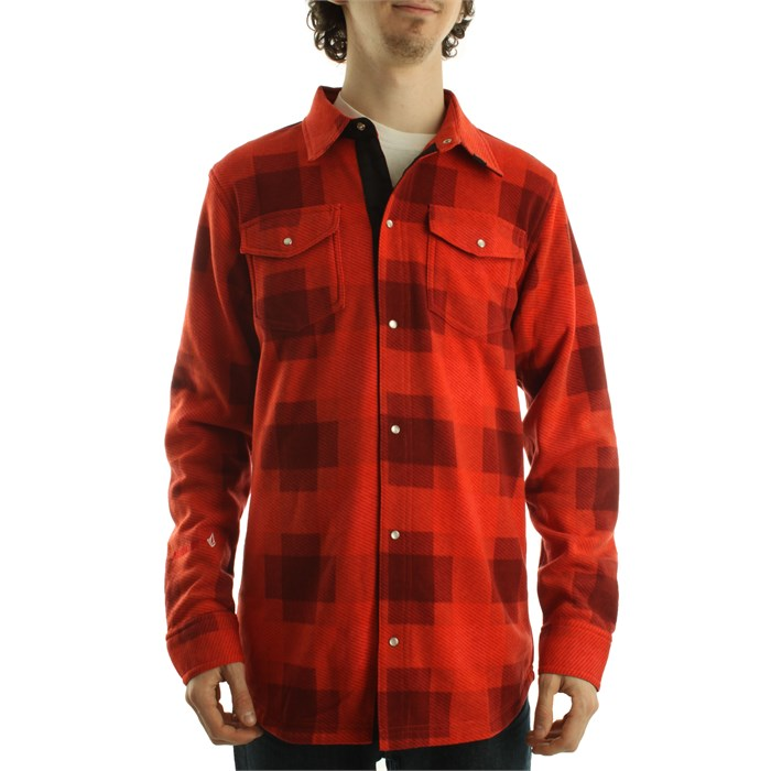 Volcom - Tonal Plaid Western Top