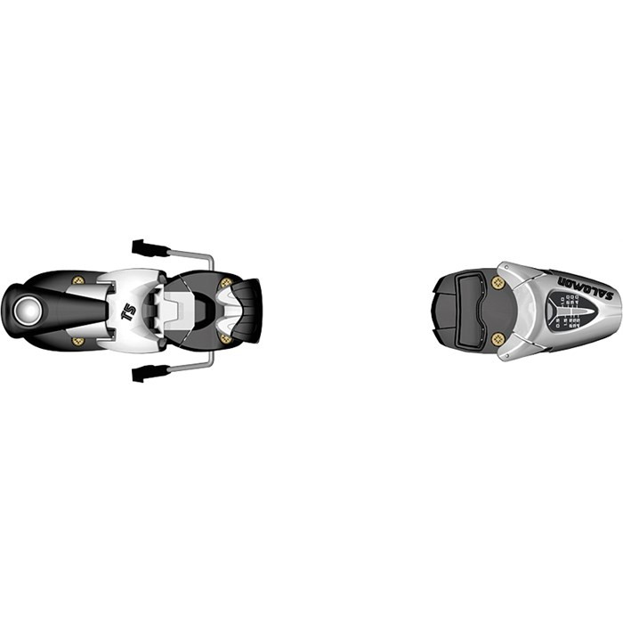 Salomon - T5 Ski Bindings (75mm Brakes) - Youth 2012