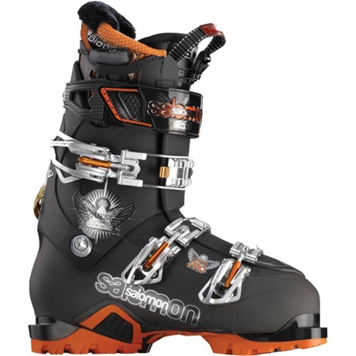 SALOMON QUEST 12 Pro Ski Boots Black Orange Size 25.5