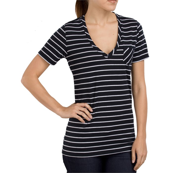 Vans - Basic Stripe V Neck T Shirt - Women's