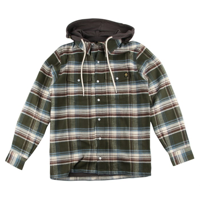 Gnarly - Flanyard 2 Hooded Button Down Shirt