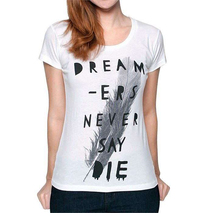 Glamour Kills - Never Say Die Scoop Neck T Shirt - Women's
