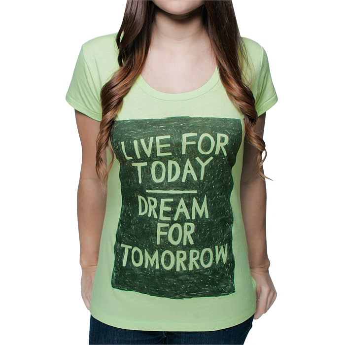 Glamour Kills - Live For Today Scoop Neck T Shirt - Women's