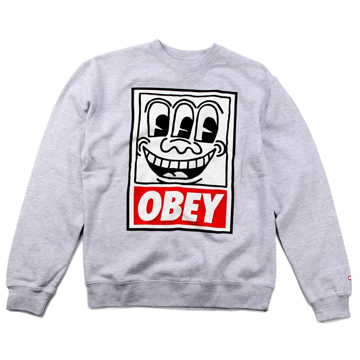 Obey Clothing - Haring Eyes Crew Sweatshirt
