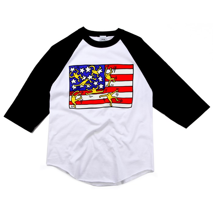 Obey Clothing - Haring Flag Raglan Shirt