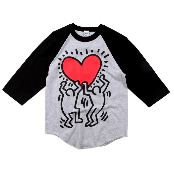 Obey Clothing - Red Heart Raglan Shirt